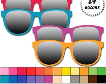 60% OFF SALE Sunglasses clipart,  summer clip art, beach clipart, pool party clipart - Commercial Use - Instant Download - M350
