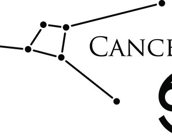 Cancer Constellation Vinyl Decal