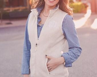 Monogram Fleece Vest | Monogrammed Vest | Monogrammed Fleece Vest | Charles River Vest | Gift for Her | Gifts under 50 | Christmas Gift