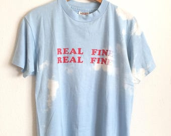 Vtg. REAL FINE BLEACH Clouds Vintage 70s 80s T-Shirt / Size Large