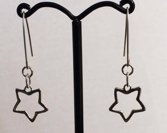Sterling silver star ear-rings