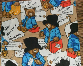 Rare Original Paddington Bear at the Station Cotton fabric
