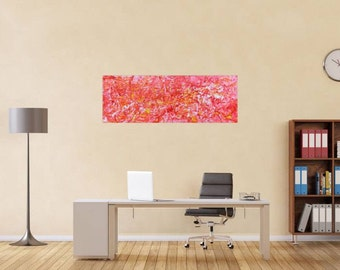 Original abstract artwork on canvas ready to hang 50x140cm #631