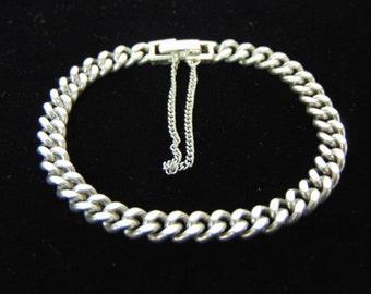 Vintage Estate Sterling Silver Chain Link Bracelet 19.7g #E2845