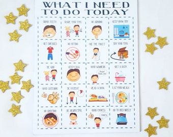 Magnet Reward Chart, toddler behaviour and routine Chart, Boys Magnet Reward chart, girls reward chart, magnet star chart, image chart