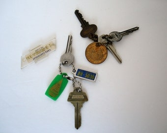 Vintage Car Keys and Keychains 1940's & 1950's