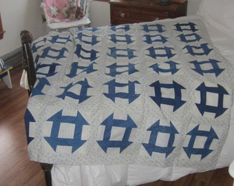 Strikingly Lovely Hole In The Barn Door Quilt Top 67X68""