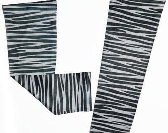 Zebra Running Compression Arm Sleeves