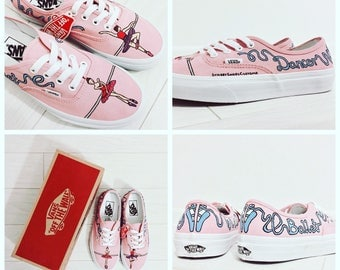 Custom Vans Authentic Beyonce Hand made Vans shoes balet lips lipstick handphand painted art