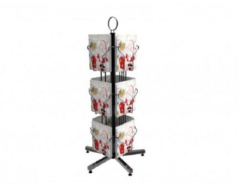 Fixture Displays® Display, Greeting Post Card Christmas Holiday Spinning Rack Stand 11702