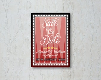 Hollywood Save the Date Card or Magnet