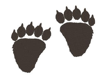 Bear paw prints embroidery design instant downland assorted sizes. machine embroidery designs bear prints, paw prints