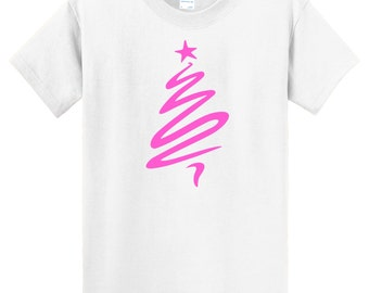 Contemporary Christmas Tree T-Shirt in a wide variety of colors km