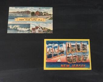 Greetings from Sea Isle City NJ Postcard - Original Vintage Postcard - NJ Beach - Jersey Shore - South Jersey - Coastal Decor