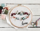 Home State Embroidery // Home State Sign // State Embroidey // Upper Peninsula Embroidery // State Art // Home Sweet Home Embroidery