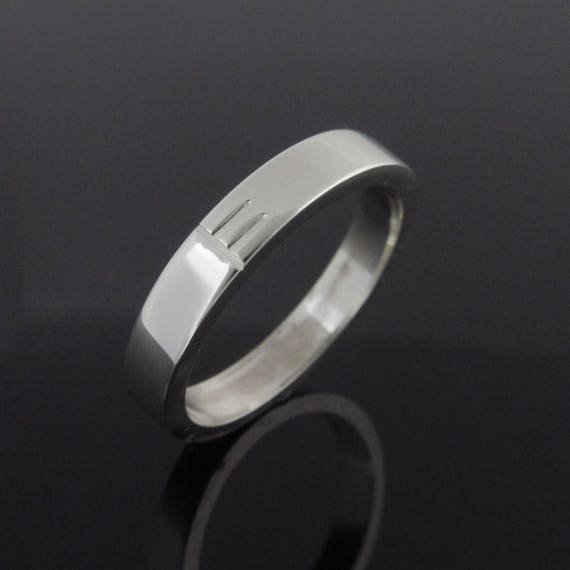Personalized Initial Ogham ring- Handmade in Ireland | Irishmade Ogham Wedding Band | Free shipping worldwide
