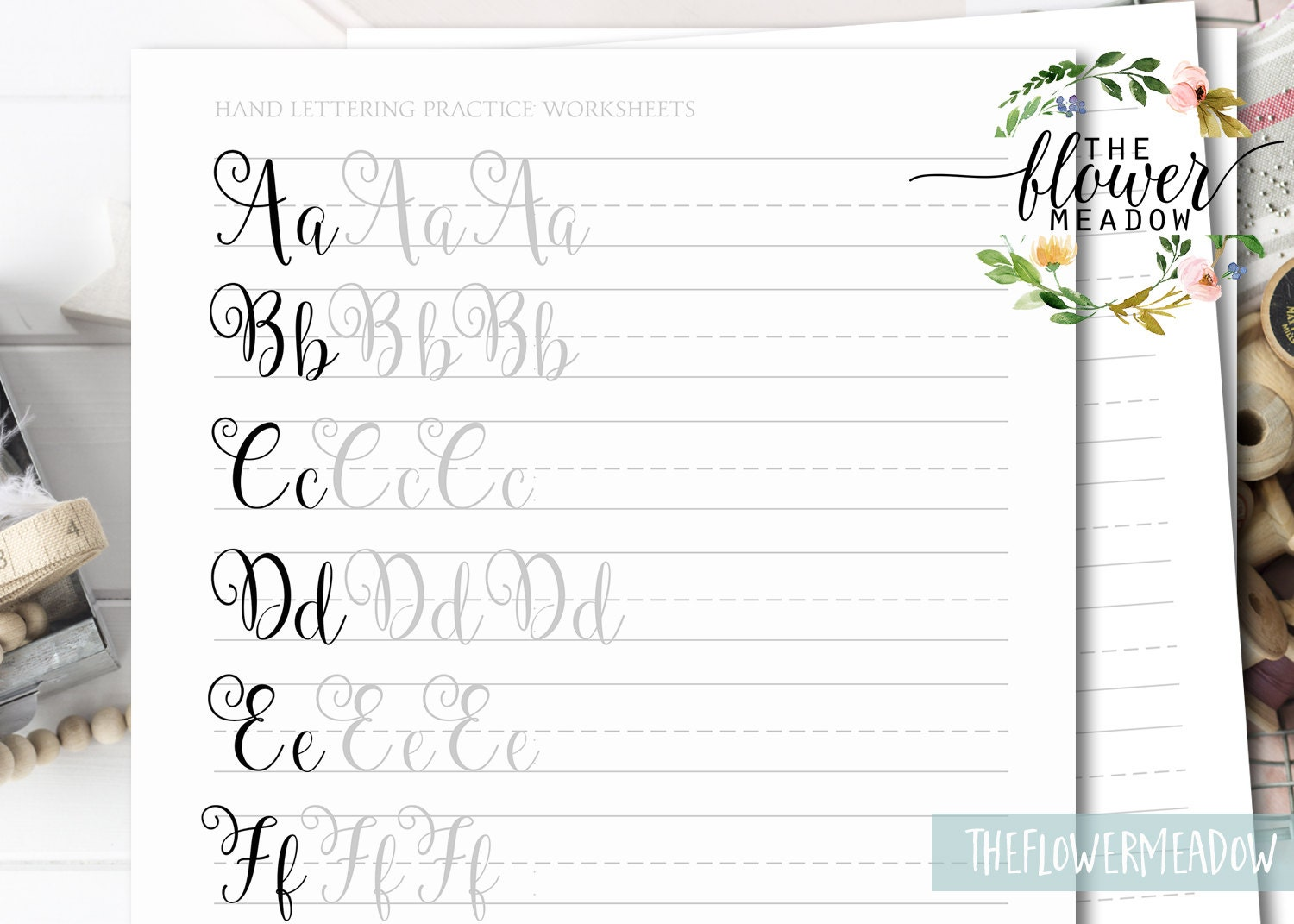 Learn calligraphy hand lettering guide