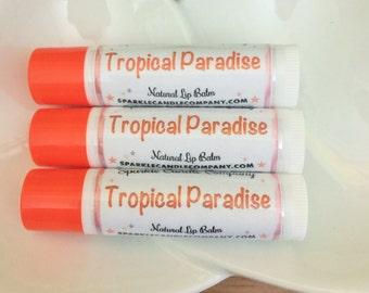 TROPICAL PARADISE Natural Lip Balm -  .15 oz. - Natural  Lip Butter
