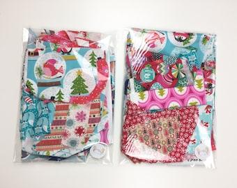 Christmas Designer 100% Cotton Fabric Scrap Bags Remnants 200g Christmas Fabric Scrap Fabric Fabric Remnants
