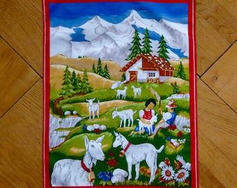 Heidi vintage tea towel from Switzerland
