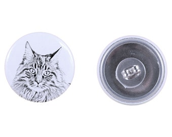 Earrings with a cat - Maine Coon
