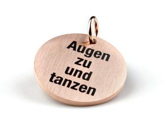 """Statement dangler """"Augen zu und tanzen"""""""