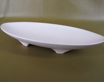 Large retro pink ceramic dish or shallow planter