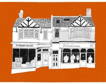 Local shops. Brighton