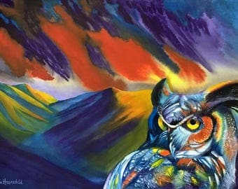 "Giclee print ""Storm Owl"", price includes shipping"
