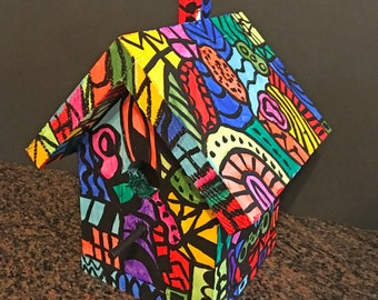 Birdhouse - Colorful Hand Painted