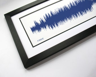 Free - Sound Wave Canvas Wall Art Design. Made from entire song recording.