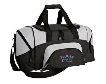 Crown Gym Bag - Personalized - Monogrammed - Embroidered - Sports Bag - Sports Gift - Princess Duffle Bag - BG990s