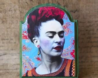 Frida Kahlo Wood Portrait - FREE SHIPPING