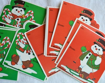 Vintage Christmas Gift Tags - Frosty the Snowman - 14