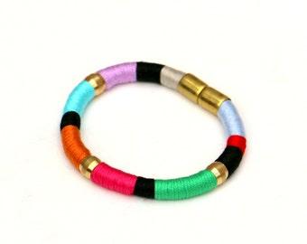 Colorful Rope Bracelet, Cord Bracelet, Textile Bracelet, Fabric Bracelet, Boho Bracelet, Cotton Bracelet, Multi Color Bracelet