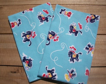 Cowboy Baby Burp Cloths Set Of 2 Vintage Flannel