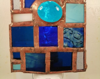 Symphony of Blues Stained Glass Nightlight