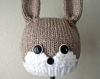 Woodland Bunny Knit Hat Pattern
