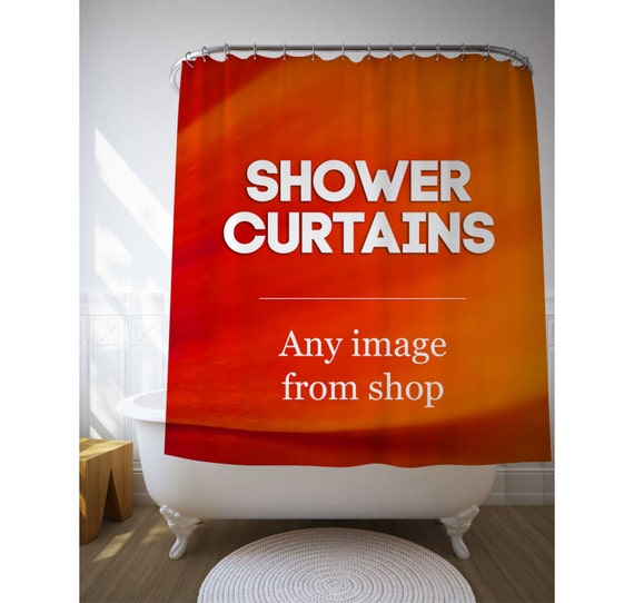 Shower Curtain, Shower Art, Bathroom Accessories, Shower Decor, Bath Decoration, Any Image From Shop, Polyester Fabric, Photo Printed