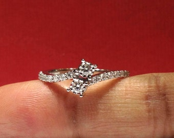 "1/2 Carat ""Forever Us"" 2 Stone (G VS2 Ideal Cut) Diamond Ring in 14K Gold (HD video available)"
