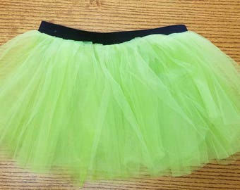 Lime Green Tutu, Tink Challenge, St. Patrick's Day Tutu, Green Running Tutu
