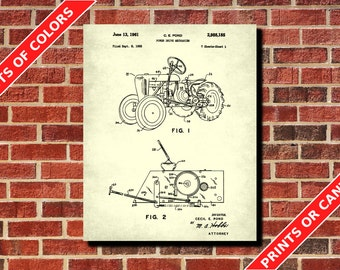 Tractor Patent Print, Tractor Blueprint, Farmer Gift, Farming Decor, Agriculture Poster, Farming Poster