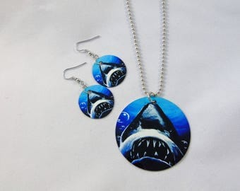 Jaws Inspired Necklace and Earrings