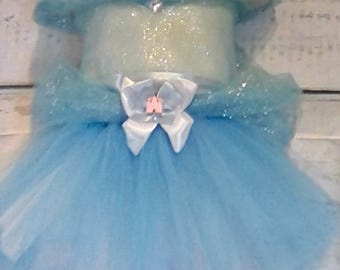 Blue Princess Inspired Tutu Dress 12 months