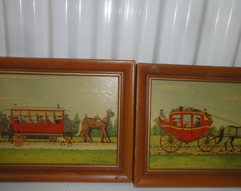 Set Of Two E. Melvin Bulstad Prints on Board