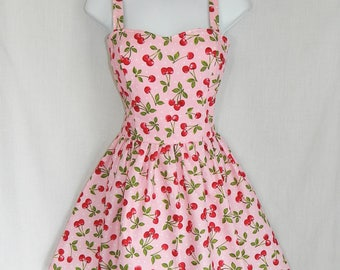 Pink polka dot Cherry dress