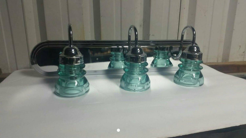 Insulator Glass Vanity Light : 24 Modern Insulator 3 Light Vanity