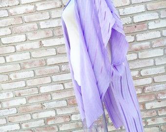 Cotton Kimono, Kimono Coverup, Beach Coverup, Bohemian Style, Handmade Kimono Cardigan, Boho Kimono, Summer Resort Wear, Boho Duster, Purple