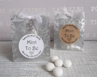 Mint To Be Favours - Wedding Favours / Party Favours - Ready Made Personalised Favours
