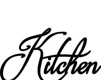 Kitchen Words Phrase Saying Metal Wall Art Decor